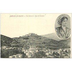 carte postale ancienne 66 AMELIE-LES-BAINS. Vue et Type de Catalane