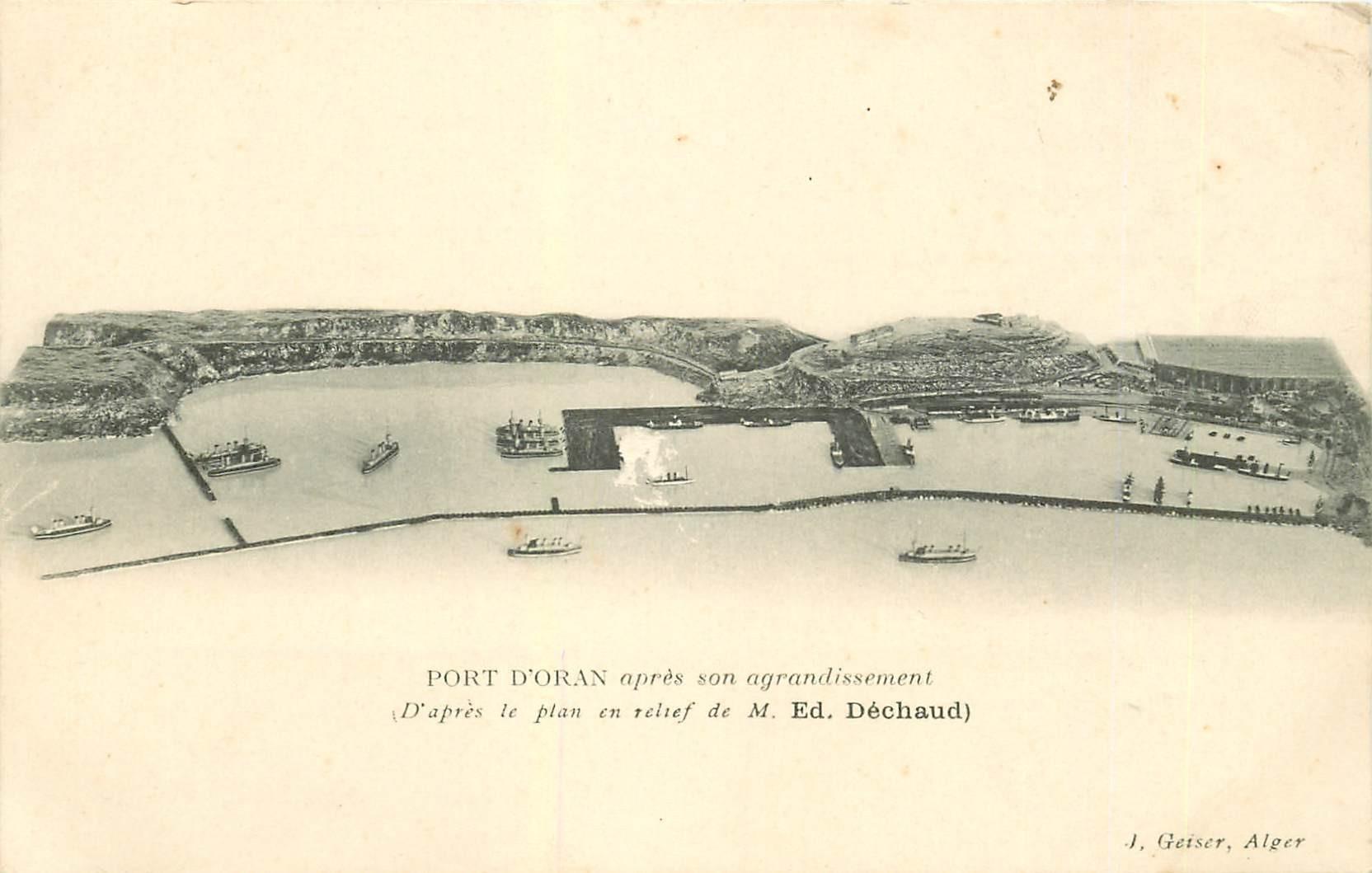 ORAN. Le Port après agrandissement d'après le plan en relief de Déchaud