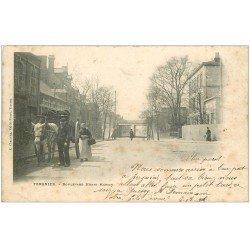 carte postale ancienne 02 TERGNIER. Chiffonier Boulevard Henri Martin 1902