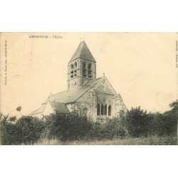 2 x cpa 95 ARRONVILLE. Eglise et Château de Balincourt 1905