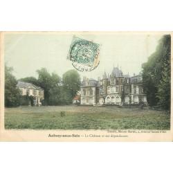 2 x cpa 93 AULNAY-SOUS-BOIS. Le Château, dépendances et Parc 1905