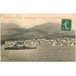 carte postale ancienne 66 BANYULS-SUR-MER. Arrivée de Torpilleurs 1911