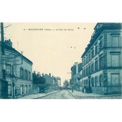 93 BAGNOLET. Rue de Paris coupant la Rue de Ménilmontant devenue Rue Jean-Jaurès