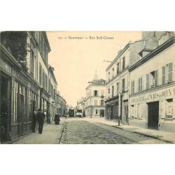 93 BAGNOLET. Rue Sadi Carnot 1907 Manufacture des encres, Pharmacie et Tabac Le Bergerac. Aux Caves de l'Aude rue Lénine