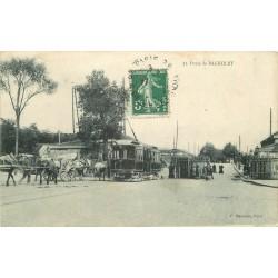 93 BAGNOLET. Octroi et Tramway électrique 1908 à la Porte de Bagnolet