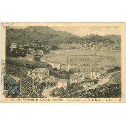 carte postale ancienne 66 BANYULS-SUR-MER. Route de Cerbère 1931