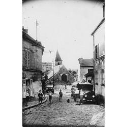 Photo Cpsm 93 BAGNOLET. Enfants et camion rue Lénine ex rue de Monteuil 1950