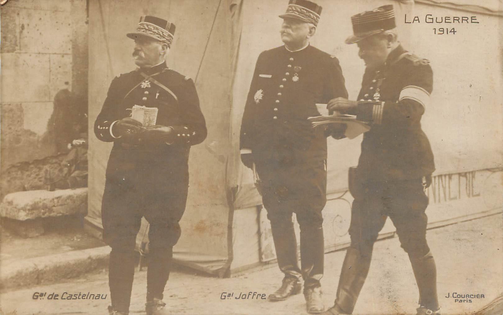 MILITAIRES GUERRE 1914. Généraux de Castelnau et Joffre par Courcier