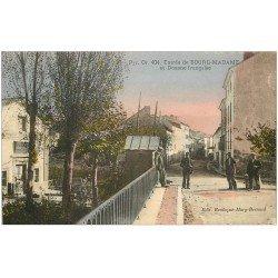carte postale ancienne 66 BOURG-MADAME. Douane Française. Douaniers