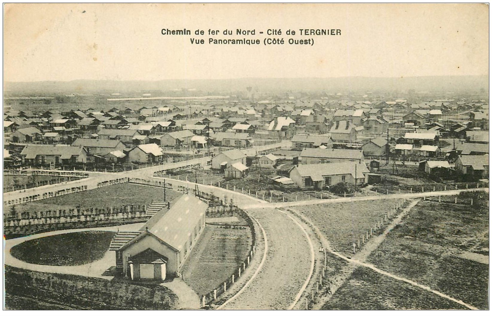 carte postale ancienne 02 TERGNIER. Cité. Chemin de Fer du Nord