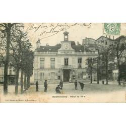 95 MONTMORENCY. Jeux de crosse devant Hôtel de Ville 1907