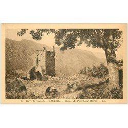 carte postale ancienne 66 CASTEIL. Ruines du Petit Saint-Martin