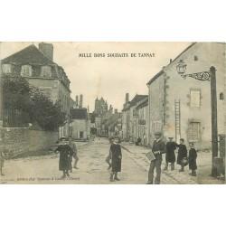 58 TANNAY. Mille bons souhaîts du Café Leger 1907