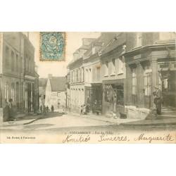 76 FOUCARMONT. Coiffeur rue des Halles 1904