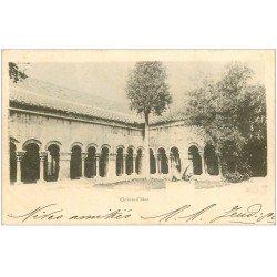 carte postale ancienne 66 ELNE. Le Cloître 1902
