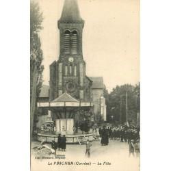 19 LE PESCHER. Manège à la Fête de la Saint-Jean Place de l'Eglise