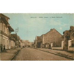 02 URCEL. Traversée du Bourg par la Route Nationale petite animation 1948
