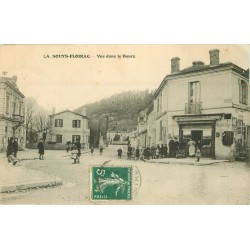 33 LA SOUYS-FLOIRAC. Vue dans le Bourg avec Charcuterie Buvette 1913