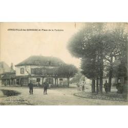 95 ARNOUVILLE-LES-GONESSE GONESSES. Epicerie et vins Place de la Fontaine animée 1917