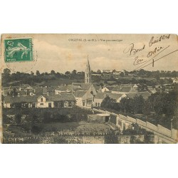 78 ORGEVAL. Vue panoramique Eglise et jardins 1914