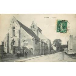 95 FOSSES. L'Eglise et le Facteur 1913