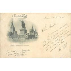 MOSCOU. Monuments de la Place Rouge 1906 publicité chocolat Louis