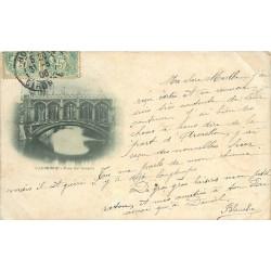 CAMBRIDGE. Pont des Soupirs 1906. Plublicité chocolat Louis sous le timbre...