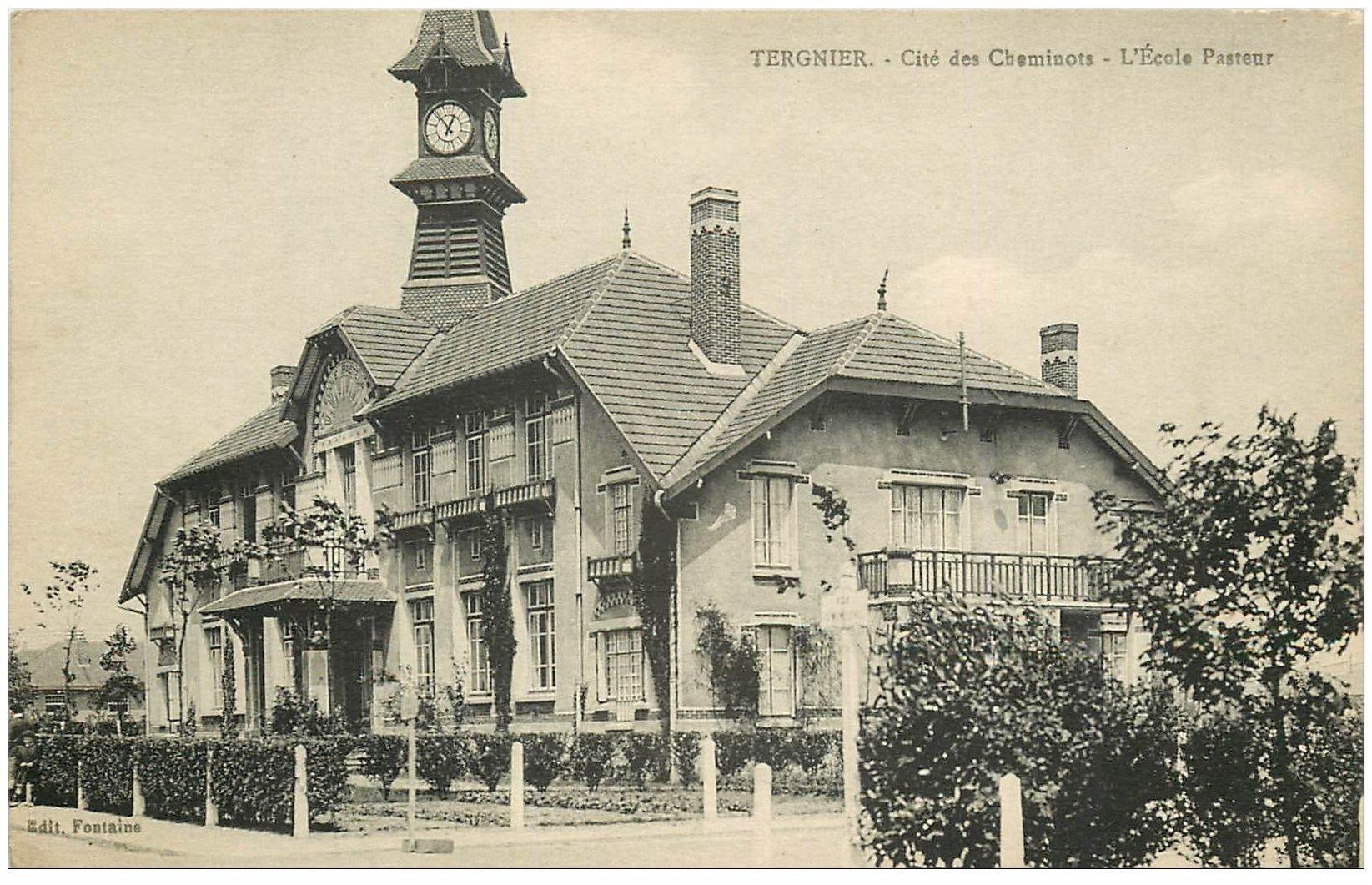carte postale ancienne 02 TERGNIER. Ecole Pasteur Cité des Cheminots