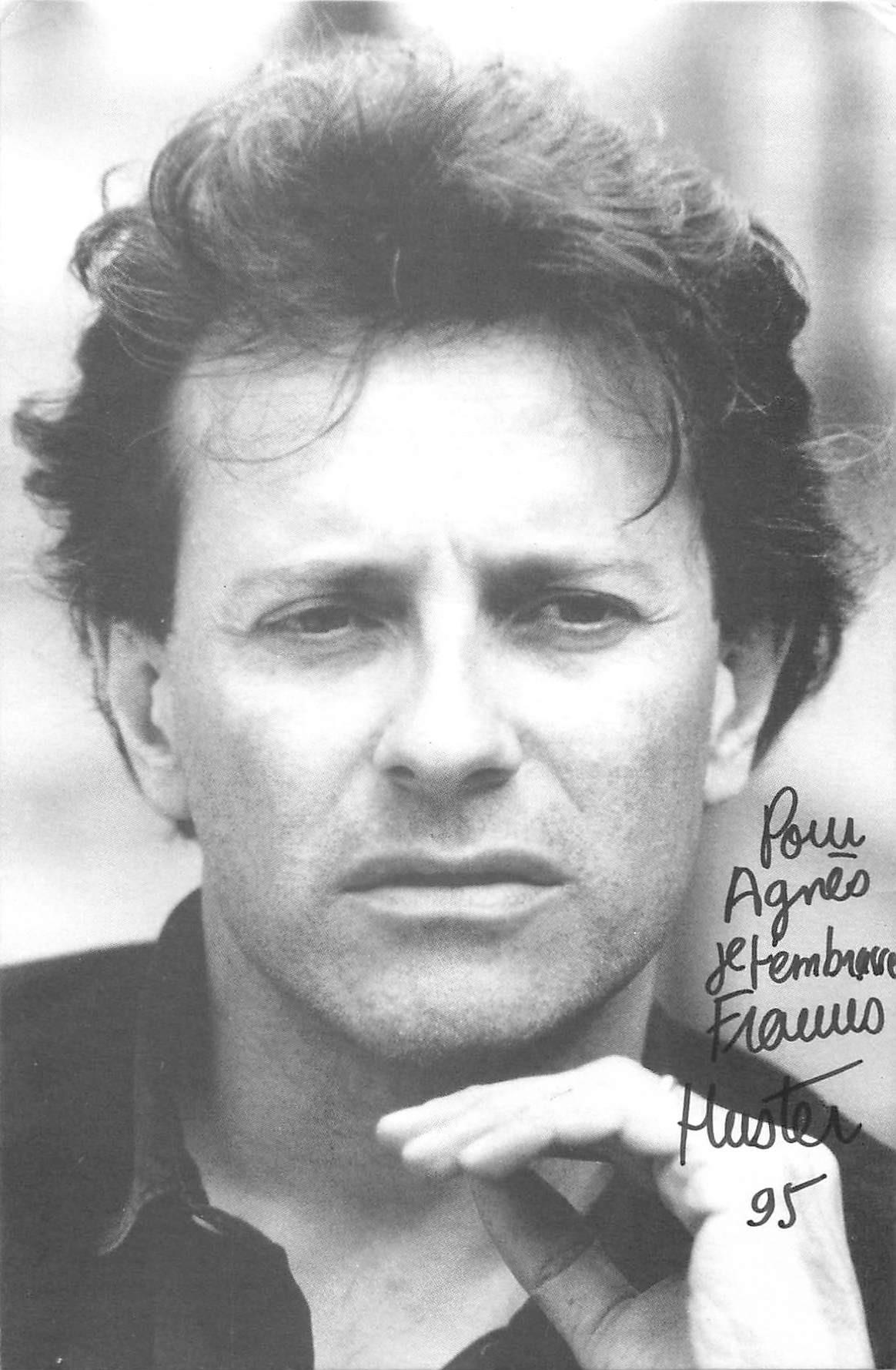 Acteurs & Artistes de Théâtre. FRANCIS HUSTER dédicacée en 1995