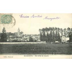 3 x cpa 95 GOUSSAINVILLE. Vue du Moulin, du Sud et des Prés 1905 et 1917