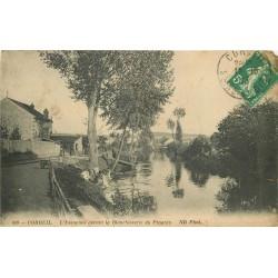 91 CORBEIL. Lavandières devant la Blanchisserie du Progès 1913
