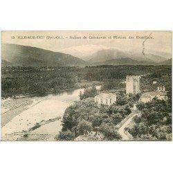 carte postale ancienne 66 ILLE-SUR-TET. Ruines de Cazenoves Plateau des Escotllars