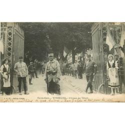 68 WESSERLING. Militaires Croix Rouge avenue des Tilleuls 1918