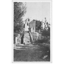 carte postale ancienne 66 LA TOUR DE CAROL. Eglise et Escalier. Carte photo