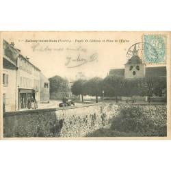93 AULNAY-SOUS-BOIS. Fossés du Château et Buvette Place de l'Eglise 1906