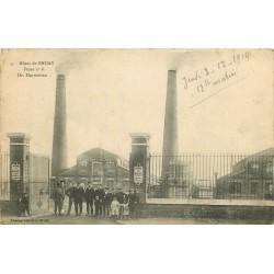 62 BRUAY. La Fosse à charbon Mines Dr. Marmottan n°6 1914