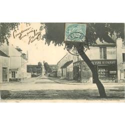 95 LE THILLAY. Bureau télégraphique et Café Tabac rue des Ecoles 1905