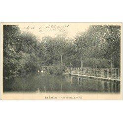 carte postale ancienne 66 LE BOULOU. Vue du Bassin-Vivier 1904 avec Cygnes