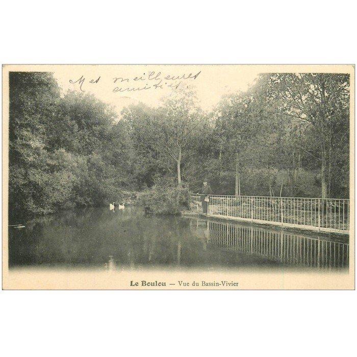 66 le boulou vue du bassin vivier 1904 avec cygnes for Bassin vivier