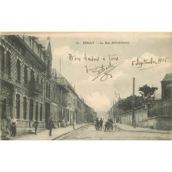 62 BRUAY. Cyclistes rue Alfred Leroy 1915