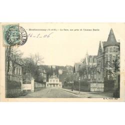 95 MONTMORENCY. La Gare vue Avenue Emilie 1906