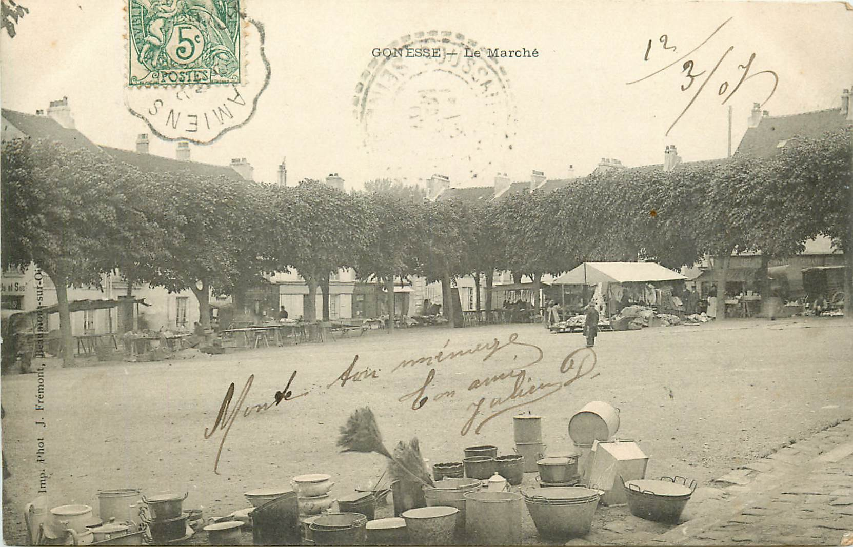 95 GONESSE. Le Marché 1907