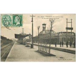 carte postale ancienne 02 TERGNIER. Gare et Quai 1925