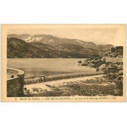 carte postale ancienne 66 LES BOUILLOUSSES. Lac et Barrage