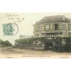 95 VILLIERS-LE-BEL. Restaurant Buvette Poulain Place de l'Eglise 1906