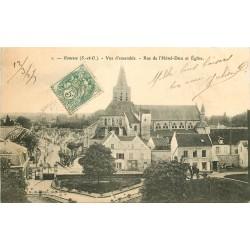 2 x cpa 95 GONESSE. Portail Eglise Saint-Pierre rue Hôtel-Dieu 1905