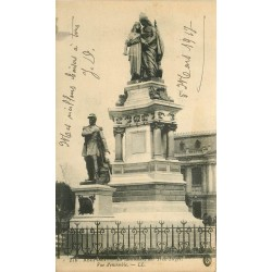 2 x cpa 90 BELFORT. Monument des Trois-Sièges et Statue Quand Même 1917