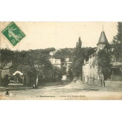 2 x cpa 95 MONTMORENCY. La Gare et boulevard de l'Ermitage et avenue Fontaine Renée