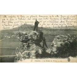 70 VESOUL. Personnages sur les Rochers de Frotey 1917