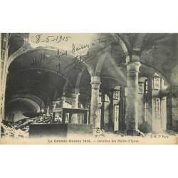 Belgique. YPRES IEPER. Intérieur des Halles pendant la Guerre 1915